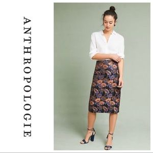 Anthropologie | Isla Maude Jacquard Pencil Skirt